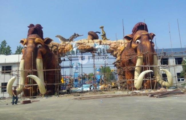 齐齐哈尔水泥直塑水师营猛犸象