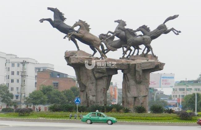 重庆梁平《飞跃)水泥直塑雕塑